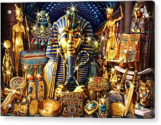 Treasures Of Egypt Acrylic Print by Andrew Farley