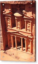 Treasury Of Petra Acrylic Print by Paul Cowan
