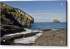 Trebarwith Strand In North East Cornwall Acrylic Print