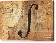 Treble Clef Acrylic Print by Michal Boubin