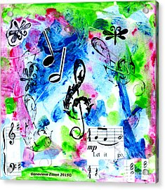 Acrylic Print featuring the mixed media Treble Mp by Genevieve Esson