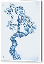Tree 14 Blue 1 Acrylic Print