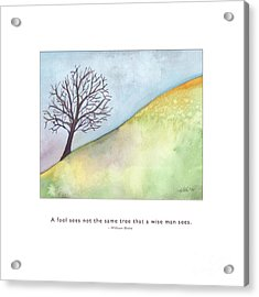 Acrylic Print featuring the painting Tree A Wise Man Sees by Kristen Fox