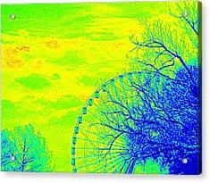 Tree And Ferris Wheel  Acrylic Print