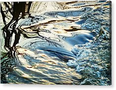 Tree And Water Abstract, Boulder Creek Acrylic Print