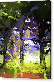 Tree Avenue Lavender Lilac Green Acrylic Print