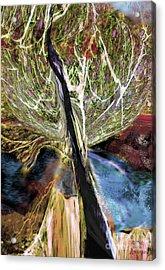 Tree Bent By Wind Acrylic Print