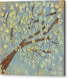 Acrylic Print featuring the digital art Tree Blossoms by Lois Bryan