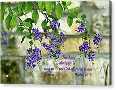 Tree Branches With Purple Flowers Ps.46 V 7 Acrylic Print