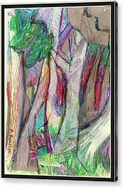 Tree Collage Acrylic Print by Ruth Renshaw