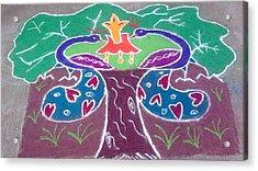 Tree Design Acrylic Print by Joni Mazumder