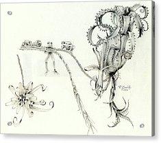 Tree Frog Hangout Acrylic Print by Penrith Goff