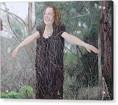 Tree Girl Acrylic Print