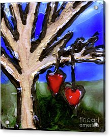 Acrylic Print featuring the painting Tree Hearts by Genevieve Esson