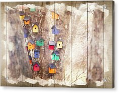 Tree Houses - Decorative Wood Panel Art Acrylic Print