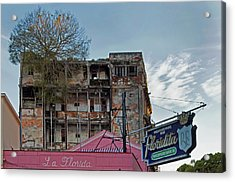 Acrylic Print featuring the photograph Tree In Building Over La Floridita Havana Cuba by Charles Harden