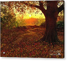 Tree Leaves Acrylic Print by Robert Foster