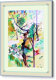 Acrylic Print featuring the painting Tree Lovers by Mindy Newman