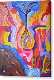 Tree Of Color Acrylic Print by Joseph  Arico