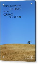 Tree Of Courage Acrylic Print
