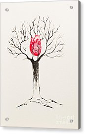 Tree Of Hearts Acrylic Print by Stefanie Forck