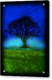 Tree Of Life - Blue Skies Acrylic Print by Robert R Splashy Art