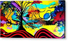 Tree Of Life Abstract Painting  Acrylic Print