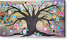 Tree Of Life And Bird Acrylic Print by Karla Gerard