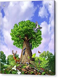 Tree Of Life Acrylic Print by Jerry LoFaro