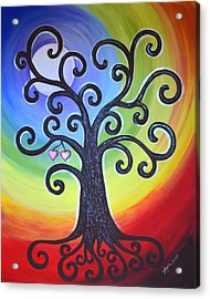 Acrylic Print featuring the painting Tree Of Life Love And Togetherness by Agata Lindquist