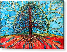 Acrylic Print featuring the painting Tree Of Life by Rae Chichilnitsky