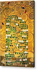 Tree Of Life Stoclet Frieze Acrylic Print by Gustav Klimt
