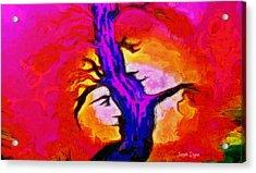 Tree Of Memories - Da Acrylic Print by Leonardo Digenio