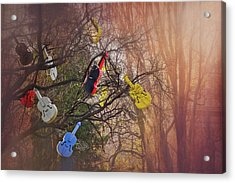 Tree Of Violins In Vienna  Acrylic Print