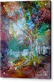 Tree On Fire Acrylic Print