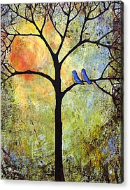 Tree Painting Art - Sunshine Acrylic Print by Blenda Studio