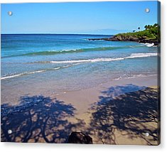 Tree Shadows At Hapuna Beach Acrylic Print