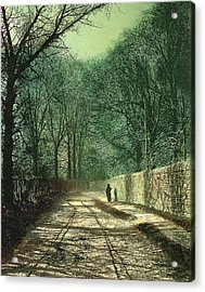 Tree Shadows In The Park Wall Acrylic Print by John Atkinson Grimshaw