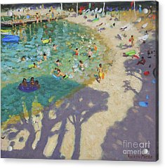 Tree Shadows, On The Beach, Near Rovinj Acrylic Print