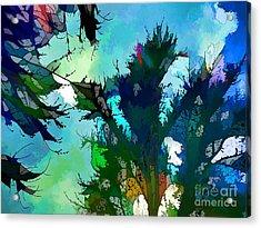 Tree Spirit Abstract Digital Painting Acrylic Print