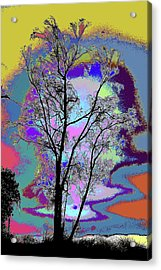 Tree - Story Of Life Acrylic Print by Kenneth James