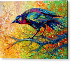 Tree Talk - Crow Acrylic Print