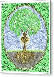 Tree With Heart And Sun Acrylic Print
