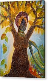 Tree Woman Acrylic Print
