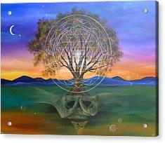 Tree Yantra Acrylic Print by Sundara Fawn