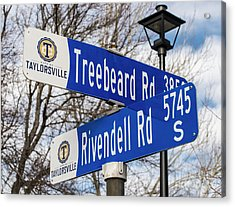Treebeard And Rivendell Street Signs Acrylic Print by Gary Whitton