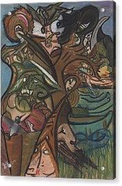 Treed In Skiatook Acrylic Print by Stu Hanson