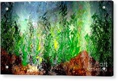 Acrylic Print featuring the painting Trees 4 by John Krakora