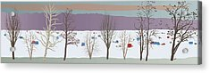 Trees And Bobhouses Acrylic Print by Marian Federspiel