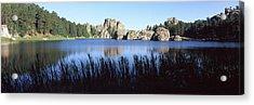 Trees Around The Lake, Sylvan Lake Acrylic Print by Panoramic Images